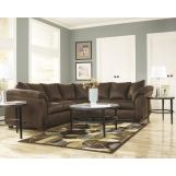 3-Piece Darcy Loveseat Sectional Set in Cafe