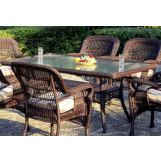 South Sea Rattan Montego Bay Outdoor Rectangular Dining Table 75118