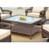 South Sea Rattan Montego Bay Outdoor Chat Table in Dark Mink 75145