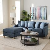 Baxton Studio Winslow 2pc Left Facing Sectional in Blue BBT8032L-Shaker Blue-LFC