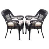 South Sea Rattan Montego Bay Outdoor Dining Arm Chair (Set of 2) 75121
