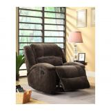 Homelegance Alejandro Reclining Chair in Chocolate 9714-1