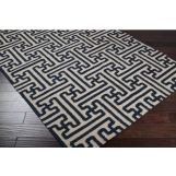 Surya Archive Handmade Flat Pile Rug in Navy ACH-1700
