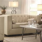 Coaster Cairns Upholstered Loveseat in Oatmeal 504905