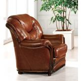 ESF Furniture 67 Living Room Chair in Warm Brown