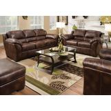 Acme Dax Leather Living Room Set in Dark Brown