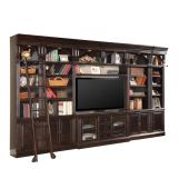 "Parker House Venezia Library 60"" Inset Entertainment Wall in Burnished Black"