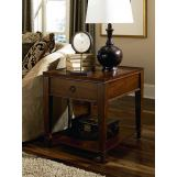 Hammary Sunset Valley Single-Drawer Rectangular End Table in Brown 197-915