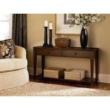 Hammary Sunset Valley Sofa Table in Brown 197-925