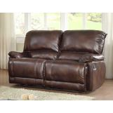 Homelegance Elsie Double Reclining Love Seat in Dark Brown 9713PM-2