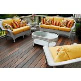 South Sea Rattan Key West Outdoor 2-piece Seating Set in Rustic White