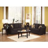 Acme Lexi 2-Piece Living Room Set in Ebony Chenille