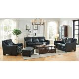 Leather Italia USA Westport - Presley 2-Piece Living Room Set in Black