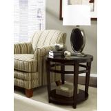 Hammary Urbana Round End Table in Merlot T2081535-00