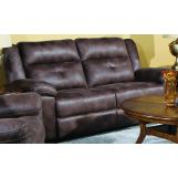 New Classic Furniture Mercer Dual Recliner Sofa with Power in Golden Brown U2948-30P2-GBN