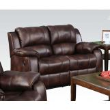 Acme Zanthe Loveseat with Console and Motion in Brown 50513
