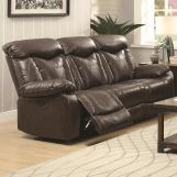 Coaster Zimmerman Power Sofa in Dark Brown 601711P