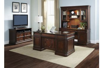 Liberty Brayton Manor Jr Executive Home Office Set in Cognac EST SHIP TIME IS 4 WEEKS CODE:UNIV20 for 20% Off