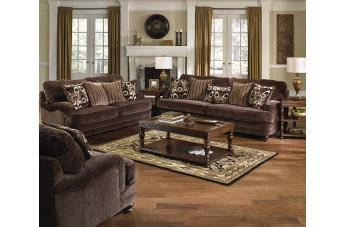 Jackson Furniture Brennan 2 PC Sofa Living Room Set In Espresso