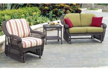 South Sea Rattan Montego Bay Outdoor 2-Piece Glider Seating Set