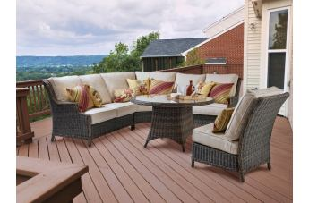 South Sea Outdoor Barrington 3-Piece Sectional Seating Set