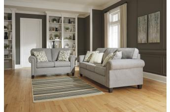 Alandari 2-Piece Living Room Set in Gray