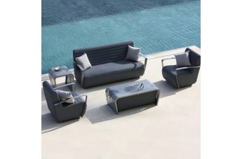 Skyline Design Axis 3-Piece Outdoor Seating Set in Gray