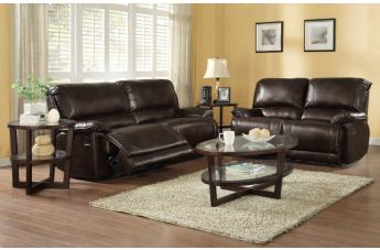 Homelegance Elsie Living Room Set in Dark Brown