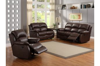 Homelegance McGraw Living Room Set in Dark Chocolate