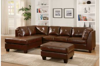 Homelegance Morgan 2 Piece Sectional Living Room Set in Brown