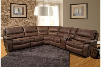 Parker House Remus Modular Sectional Living Room Set In Stone