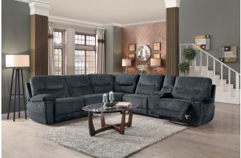 Homelegance Furniture Columbus 6PC Sectional Living Room Set in Gray