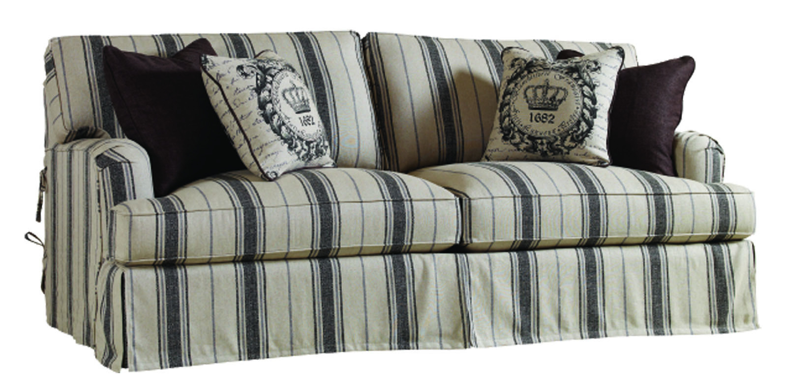 Alf Img Showing Striped Fabric Sofas