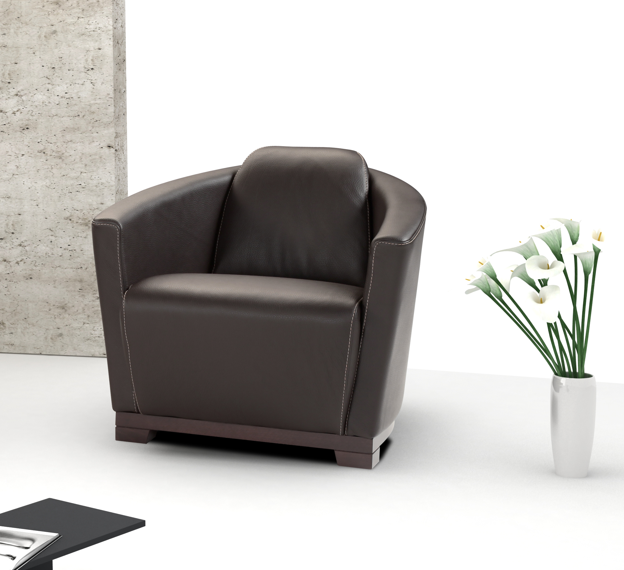 furniture italian leather hotel chair in black 17692 s bw