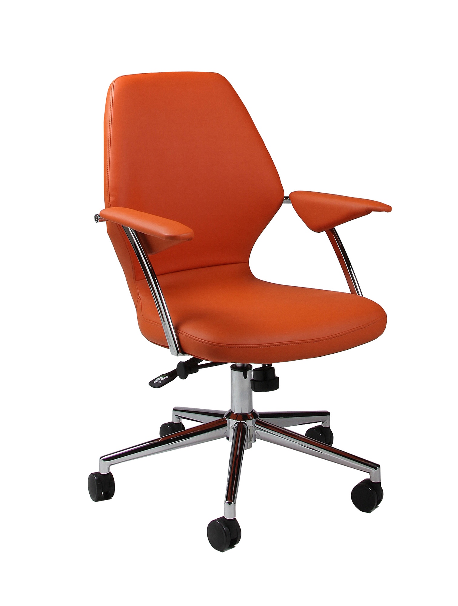 pastel furniture ibanez office chair in orange upholstery ib 164 ch