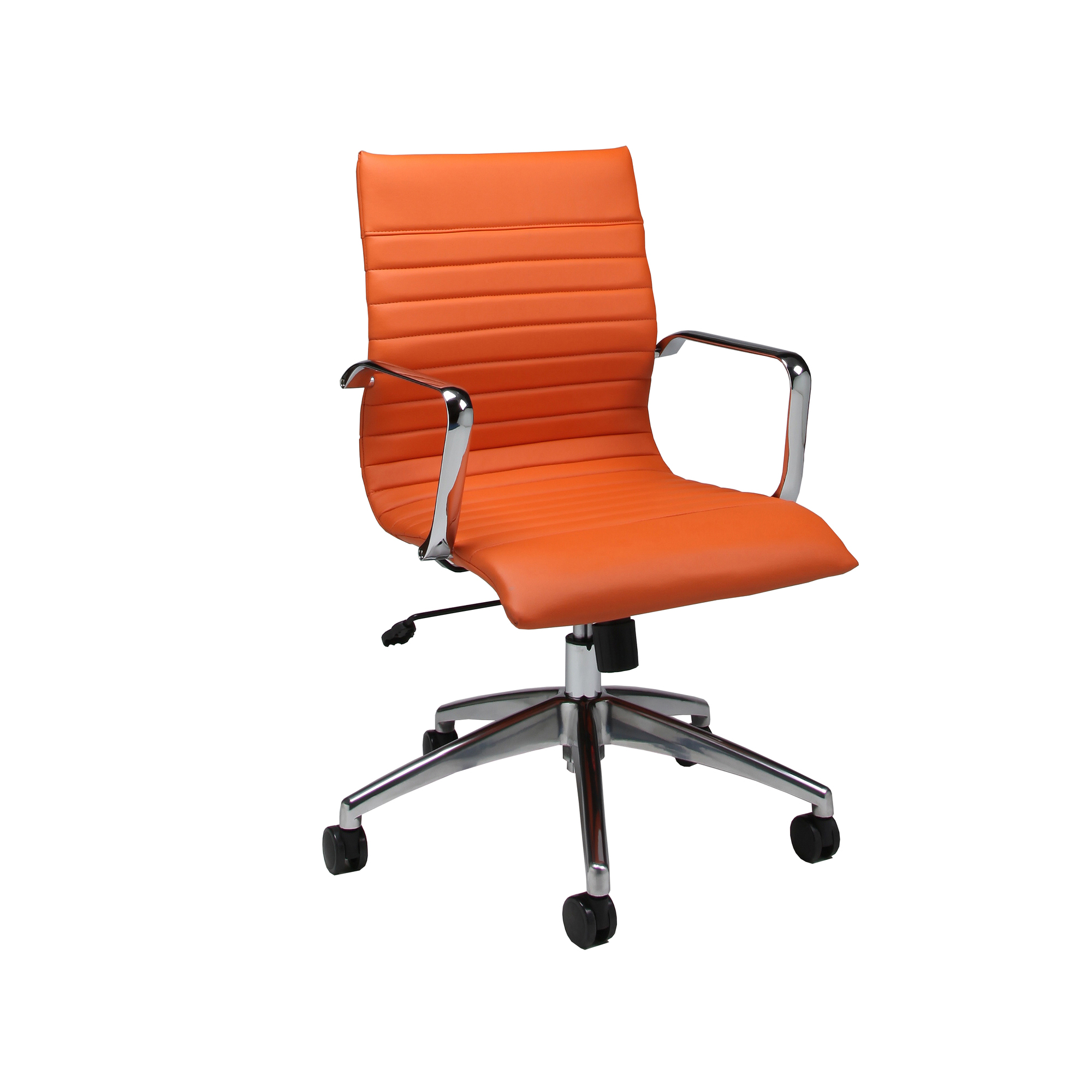 pastel furniture janette office chair in orange upholstery