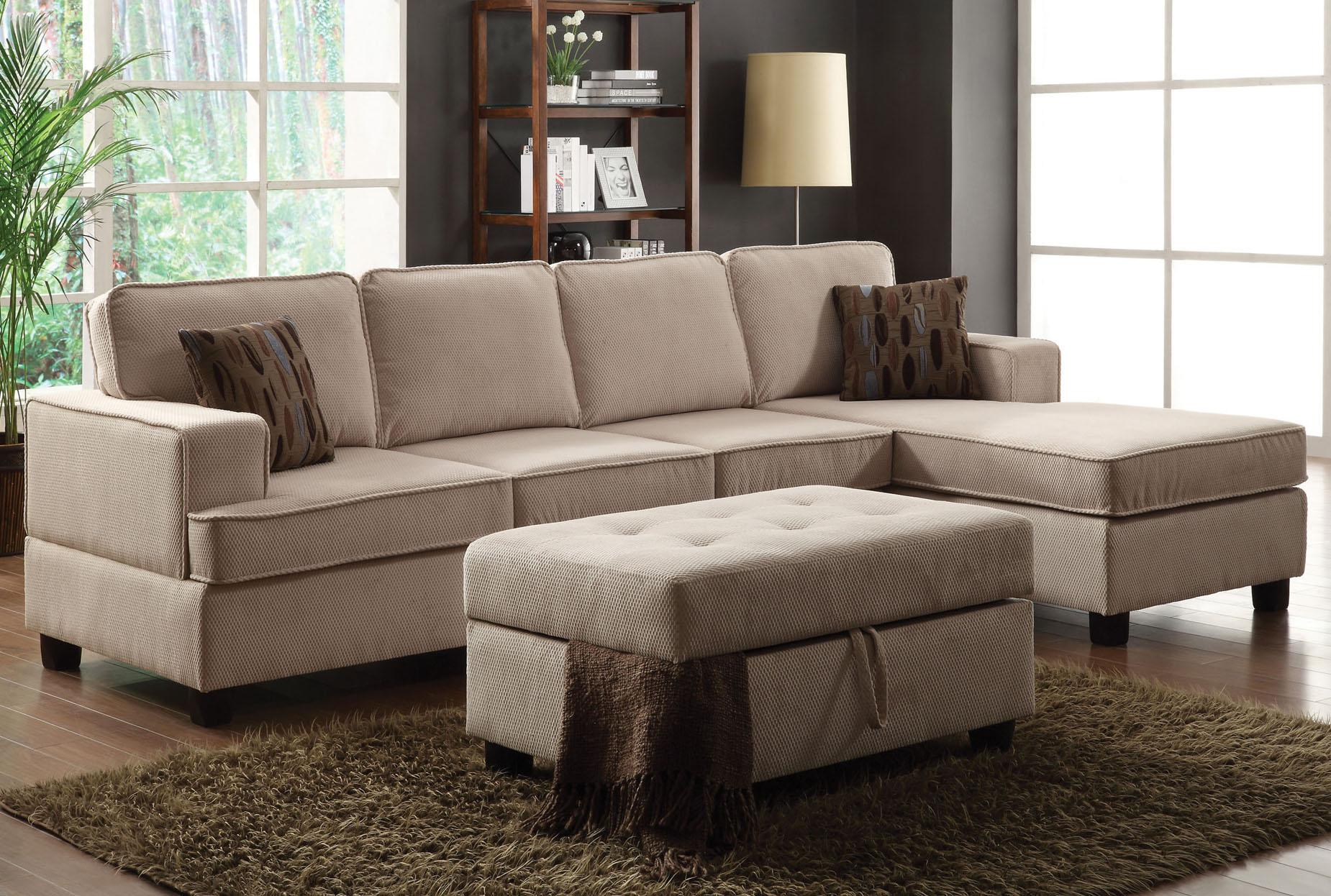 Acme lavenita sectional living room set in wheat for 3 piece living room set cheap