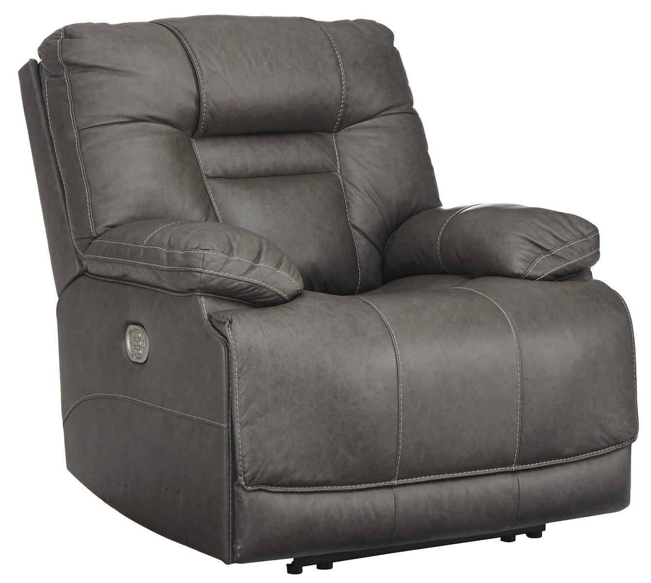 Wurstrow Power Recliner With Adjustable Headrest In Smoke